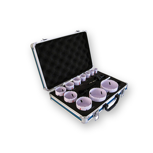 juego de sierras de copas en maletin o coronas perforadoras
