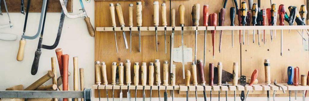 tablero de herramientas de carpintería